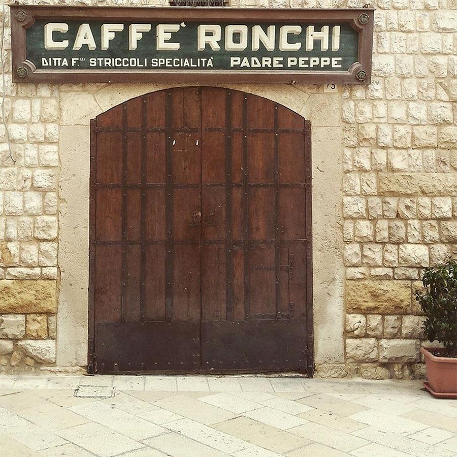 Letters from Puglia_Altamura (BA), Caffè Ronchi Striccoli_Futuro Arcaico