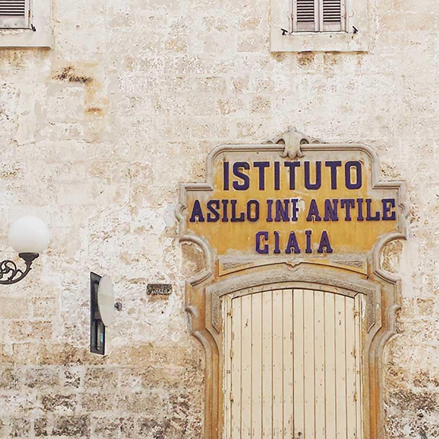 Letters from Puglia_Fasano (BR), Istituto Asilo Infantile Ciaia_Futuro Arcaico
